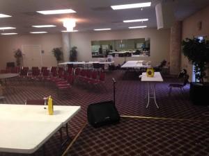 quilt reatreat room set up