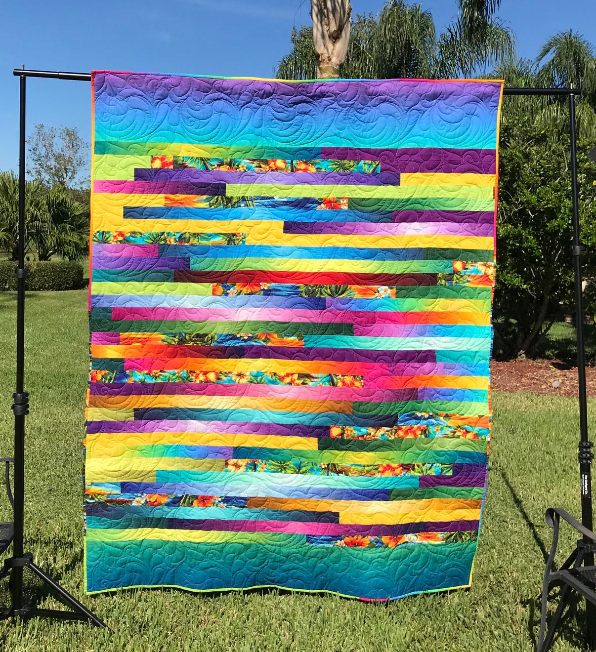 Modern Jelly Roll Race Quilt Tutorial Carole Lyles Shaw